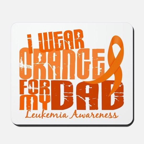 I Wear Orange 6.4 Leukemia Mousepad