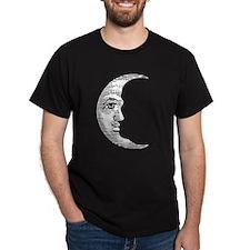 Vintage Crescent Moon Dark T-Shirt