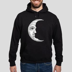 Vintage Crescent Moon Hoodie (dark)