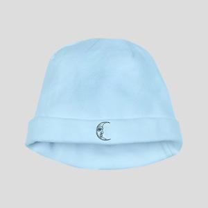 Vintage Crescent Moon baby hat