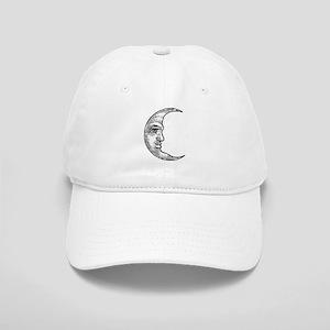 Vintage Crescent Moon Cap