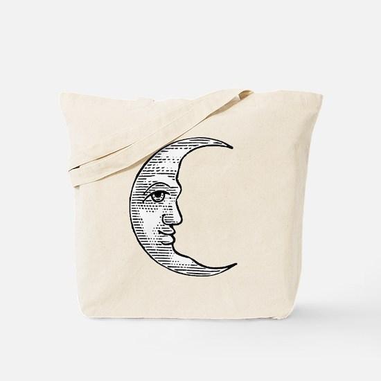 Vintage Crescent Moon Tote Bag