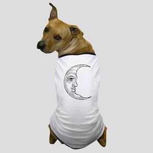 Vintage Crescent Moon Dog T-Shirt