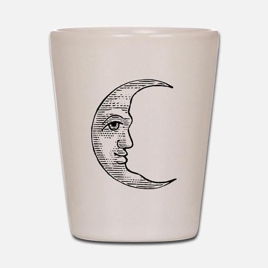 Vintage Crescent Moon Shot Glass