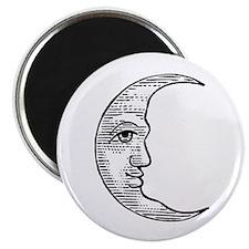 Vintage Crescent Moon Magnet