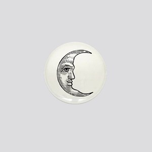 Vintage Crescent Moon Mini Button