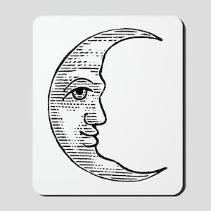 Vintage Crescent Moon Mousepad