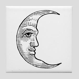 Vintage Crescent Moon Tile Coaster