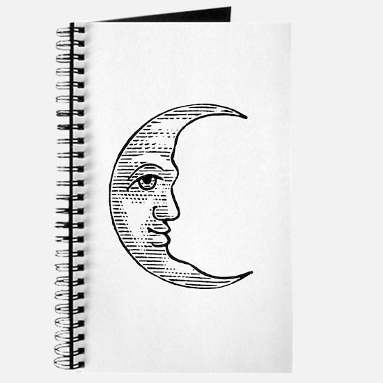 Vintage Crescent Moon Journal