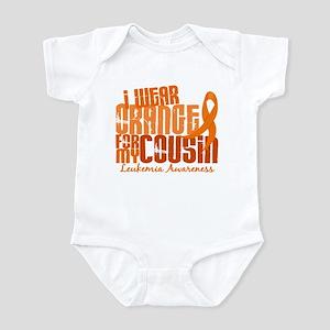 I Wear Orange 6.4 Leukemia Infant Bodysuit