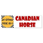 My Other Ride Is A Canadian Horse Bumper Sticker
