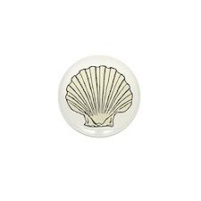 Sea Scallop Shell Mini Button