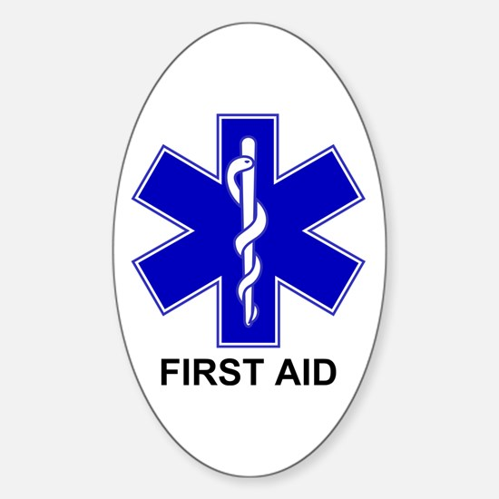 BSL - First Aid Sticker (Oval)