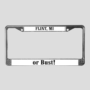 Flint or Bust! License Plate Frame