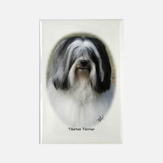 Tibetan Terrier 9Y407D-250 Rectangle Magnet (10 pa