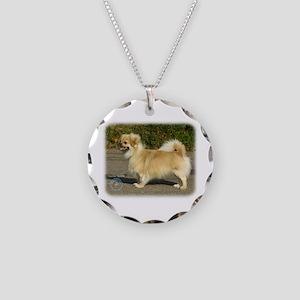 Tibetan Spaniel 9B040D-05 Necklace Circle Charm