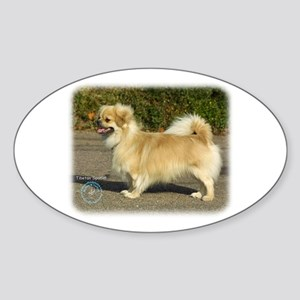 Tibetan Spaniel 9B040D-05 Sticker (Oval)