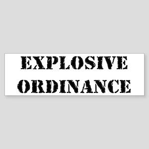 Explosive Ordinance Bumper Sticker