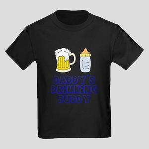 Daddy's Drinking Buddy Kids Dark T-Shirt