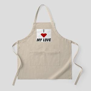 I heart My Love BBQ Apron