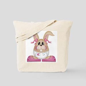 Baby Bunny Girl Tote Bag