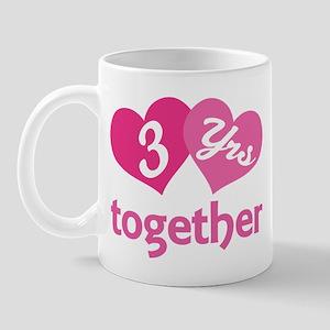 3rd Anniversary Hearts Mug
