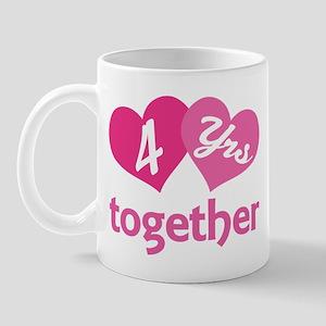 4th Anniversary Hearts Mug
