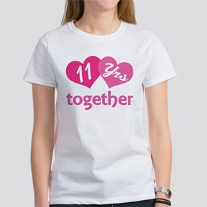 11th Anniversary Hearts Women's T-Shirt