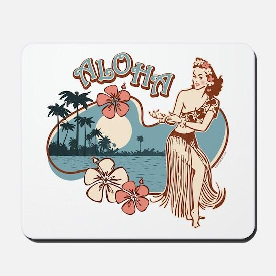 Aloha Hula Girl Mousepad