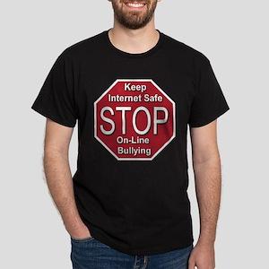 Stop On-line Bullying Dark T-Shirt