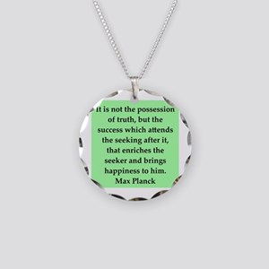 Max Plank Quote Necklace Circle Charm