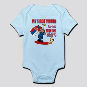 First Proud To Be Serbian Kids design Infant Bodys