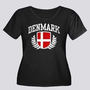 Denmark Women's Plus Size Scoop Neck Dark T-Shirt