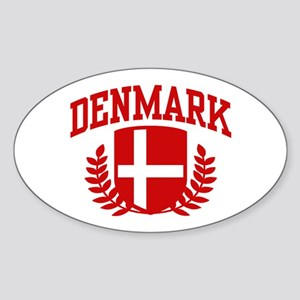 Denmark Oval Sticker