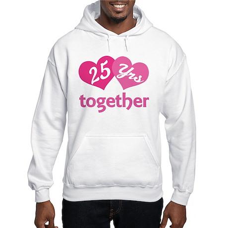 25th Anniversary Hearts Hooded Sweatshirt