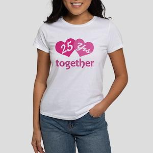 25th Anniversary Hearts Women's T-Shirt