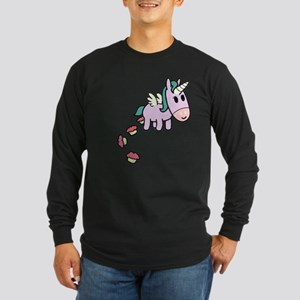 Unicorn Sweets Long Sleeve Dark T-Shirt