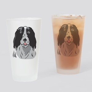Boarder Collie Pint Glass