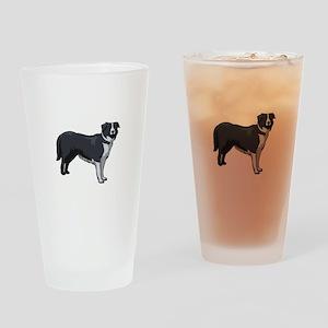 Border Collie Pint Glass