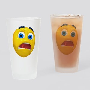 Terrified Face Pint Glass