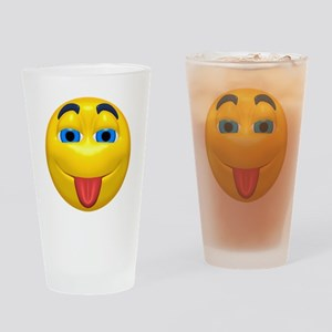 Cute Tongue Out Face Pint Glass