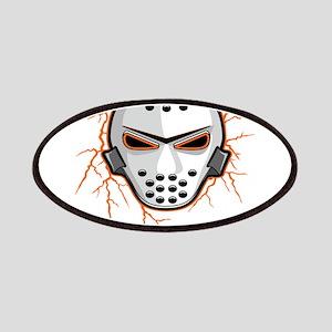 Orange Lightning Goalie Mask Patches