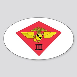 3rd Marine Air Wing Sticker (Oval)