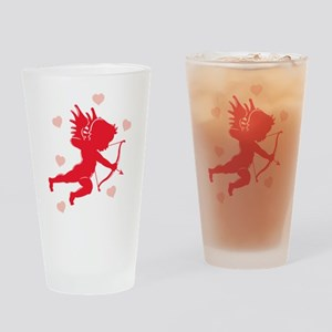 Cupid and Hearts Pint Glass