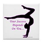 Gymnastics Tile Coaster - Success