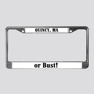 Quincy or Bust! License Plate Frame