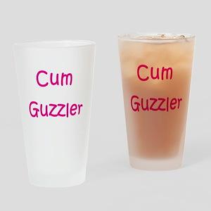Cum guzzler Pint Glass