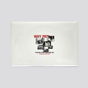 Why Me Animal Abuse Rectangle Magnet (10 pack)