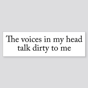 Voices In My Head Sticker (Bumper)