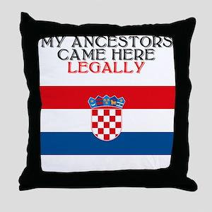 Croatian Heritage Throw Pillow